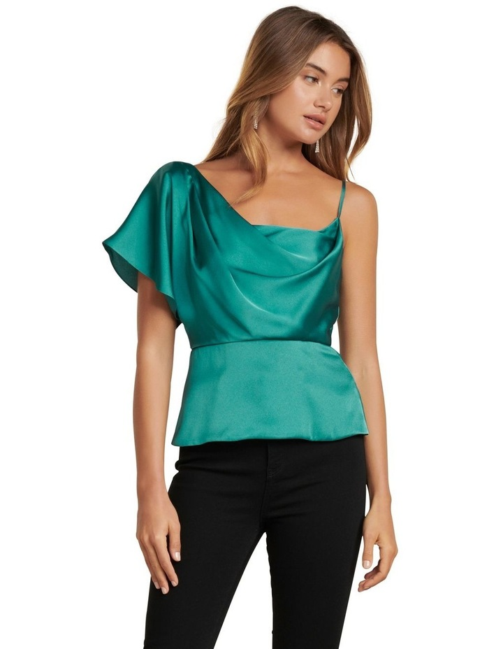 Danielle One Shoulder Satin Top image 1