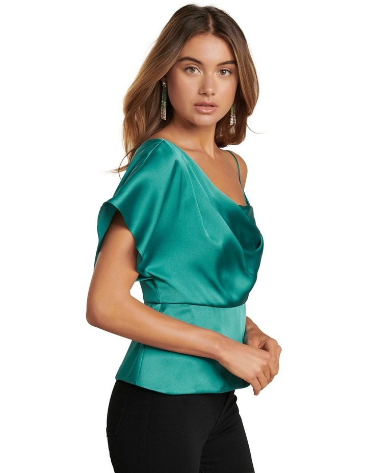 Danielle One Shoulder Satin Top image 2