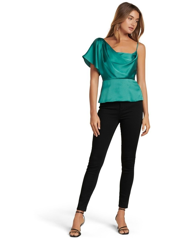 Danielle One Shoulder Satin Top image 4