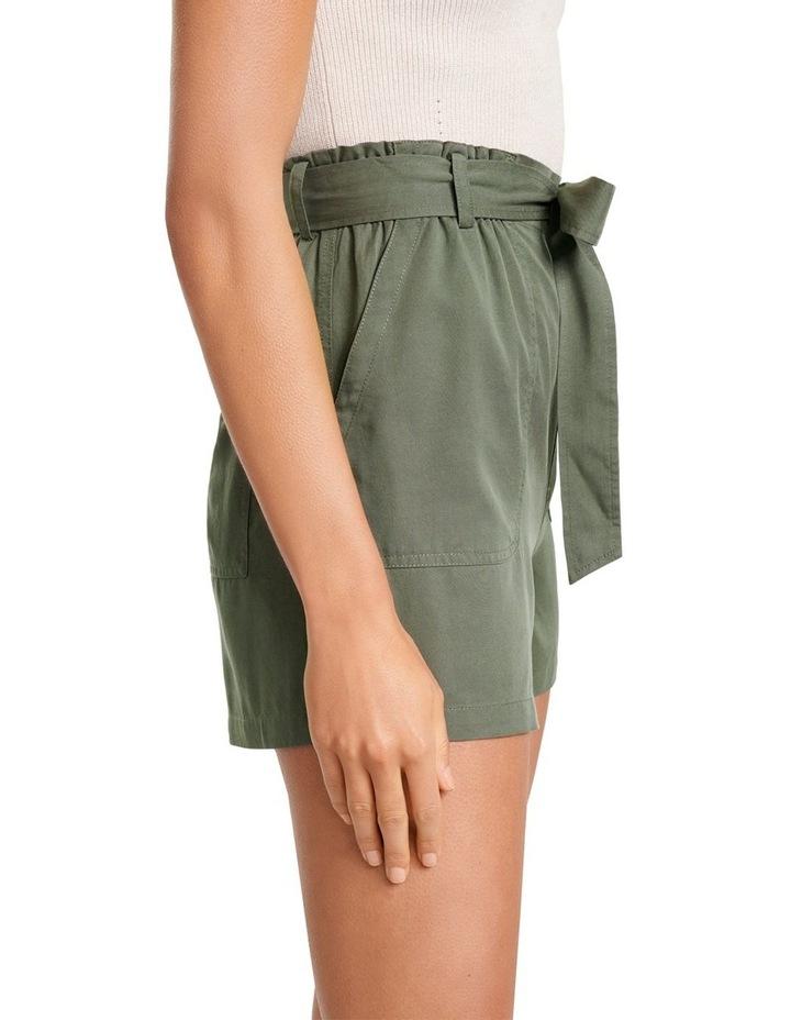 Liu High Rise Tie Waist Shorts image 3