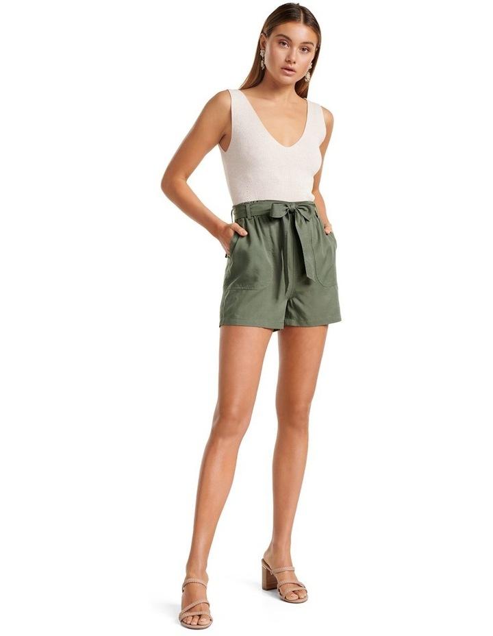 Liu High Rise Tie Waist Shorts image 5