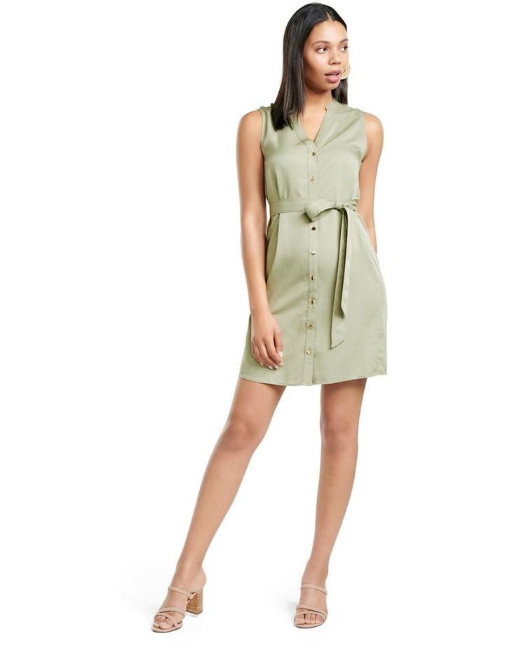 Harper Sleeveless Shirt Dress image 5