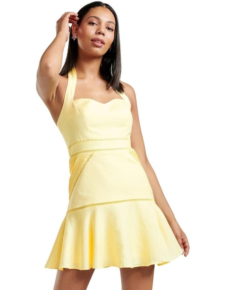 Arianna Lace Up Halter Mini Dress image 1