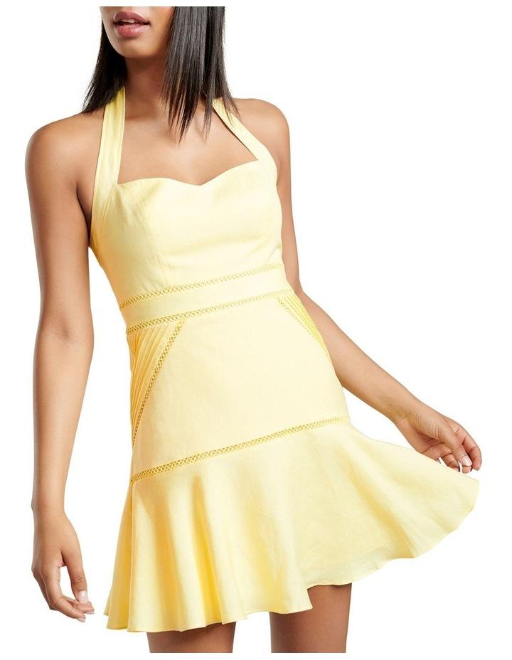 Arianna Lace Up Halter Mini Dress image 2