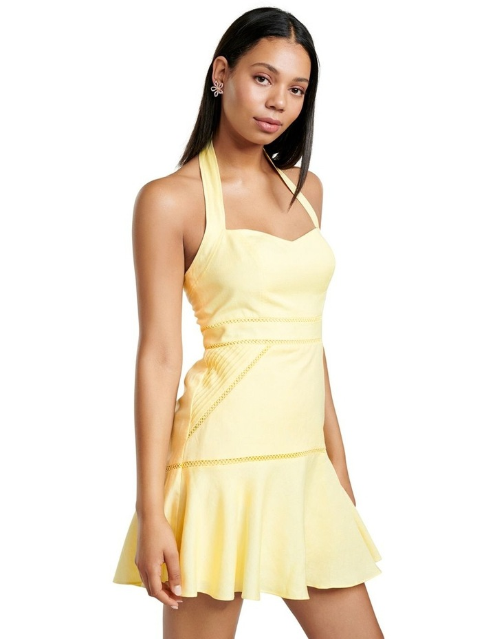 Arianna Lace Up Halter Mini Dress image 3