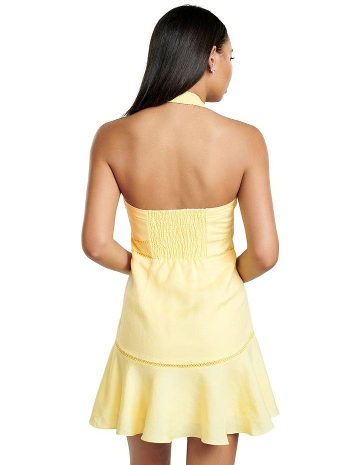 Arianna Lace Up Halter Mini Dress image 4