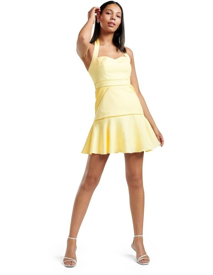 Arianna Lace Up Halter Mini Dress image 5