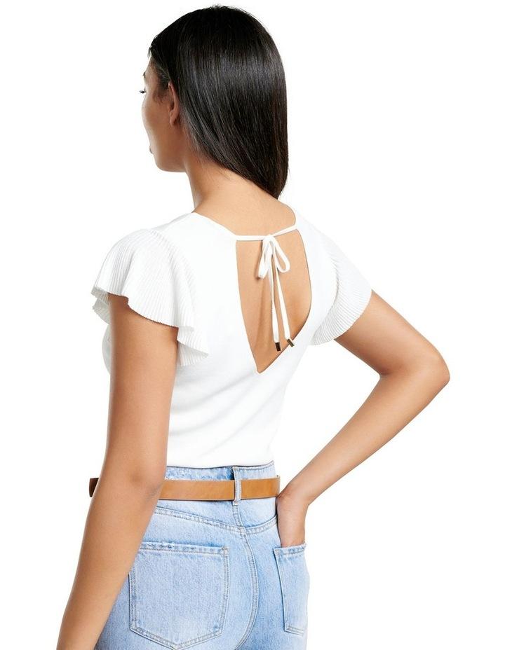 Veronica Flutter Sleeve Knit Top image 3
