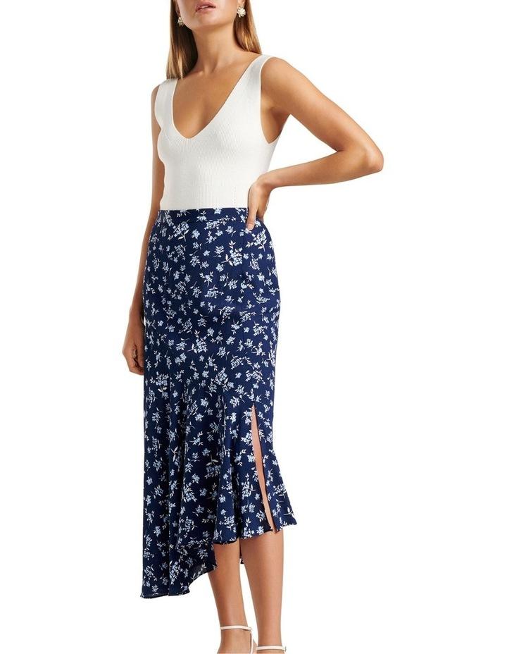 Harlow Asym Hanky Hem Midi Skirt image 2
