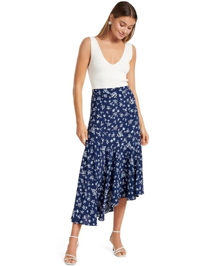 Harlow Asym Hanky Hem Midi Skirt image 5