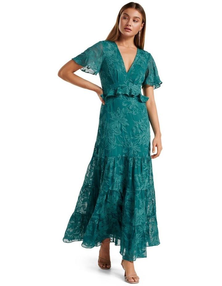 Ida embroidered Tiered Maxi Dress image 1