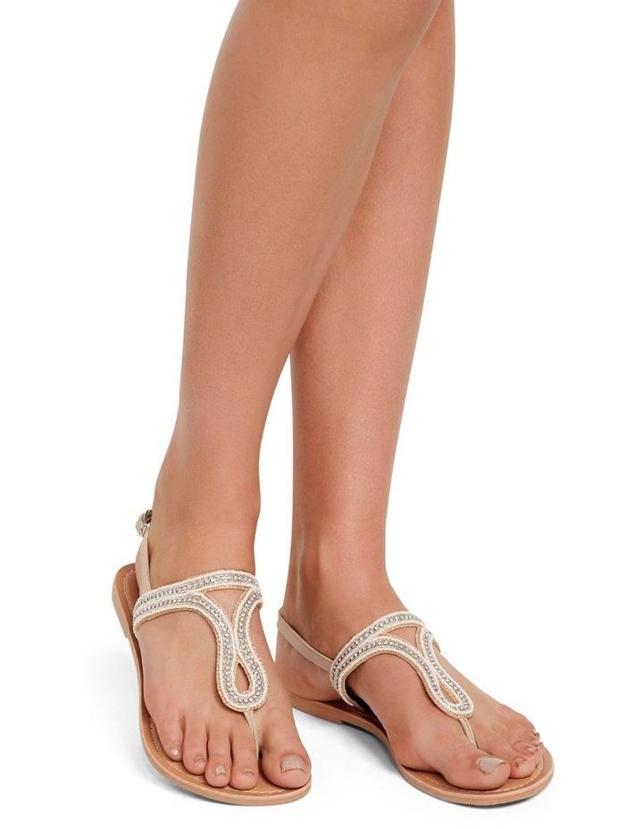Rose Embellished T Bar Sandals image 5