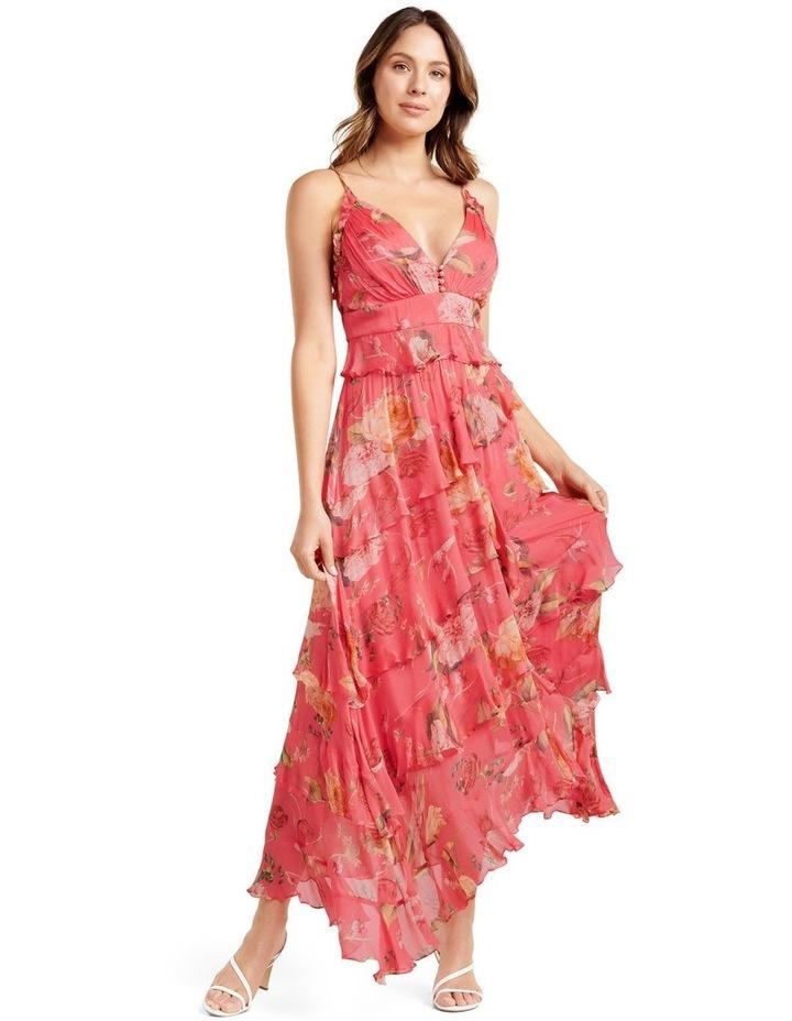 Delilah Ruffle Midi Dress image 1