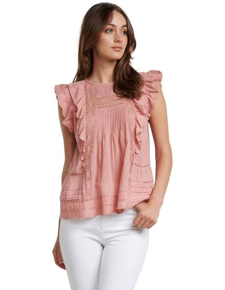 Lacy Embroidered Boho Blouse image 1