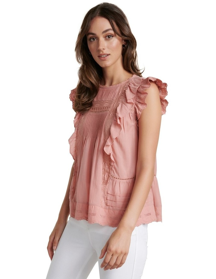 Lacy Embroidered Boho Blouse image 2
