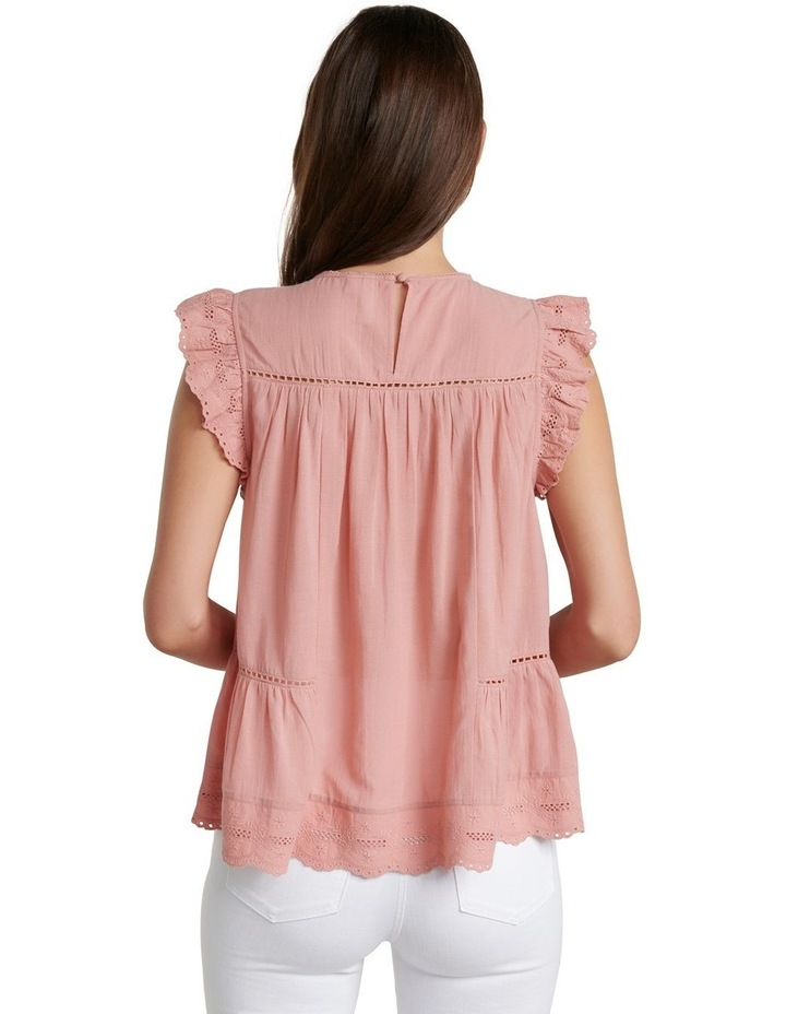 Lacy Embroidered Boho Blouse image 3