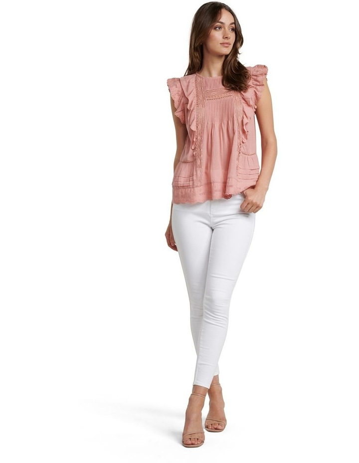 Lacy Embroidered Boho Blouse image 4