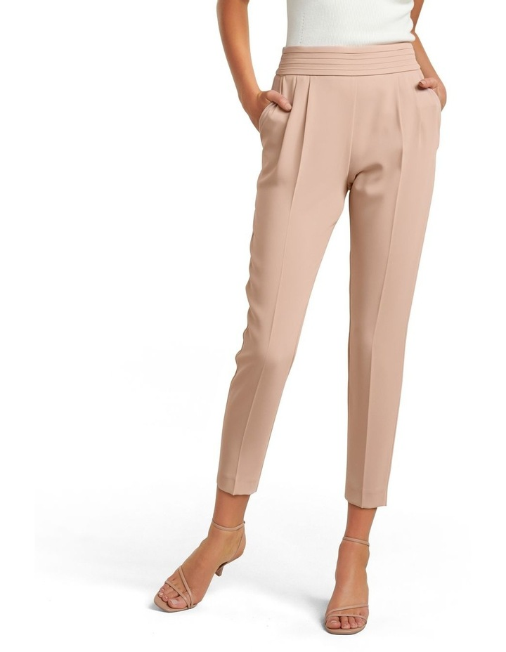 Zoe Petite Pleated Elastic Back Pants image 1