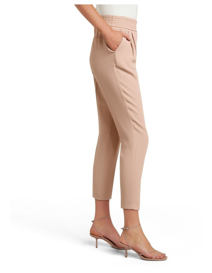 Zoe Petite Pleated Elastic Back Pants image 2