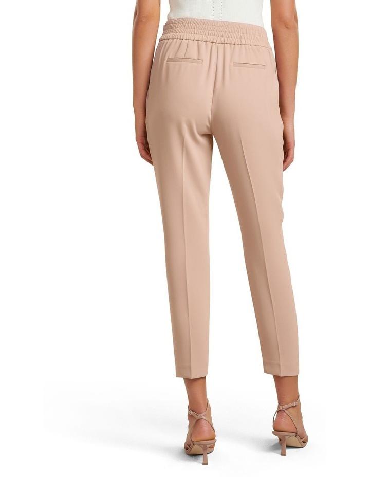 Zoe Petite Pleated Elastic Back Pants image 3