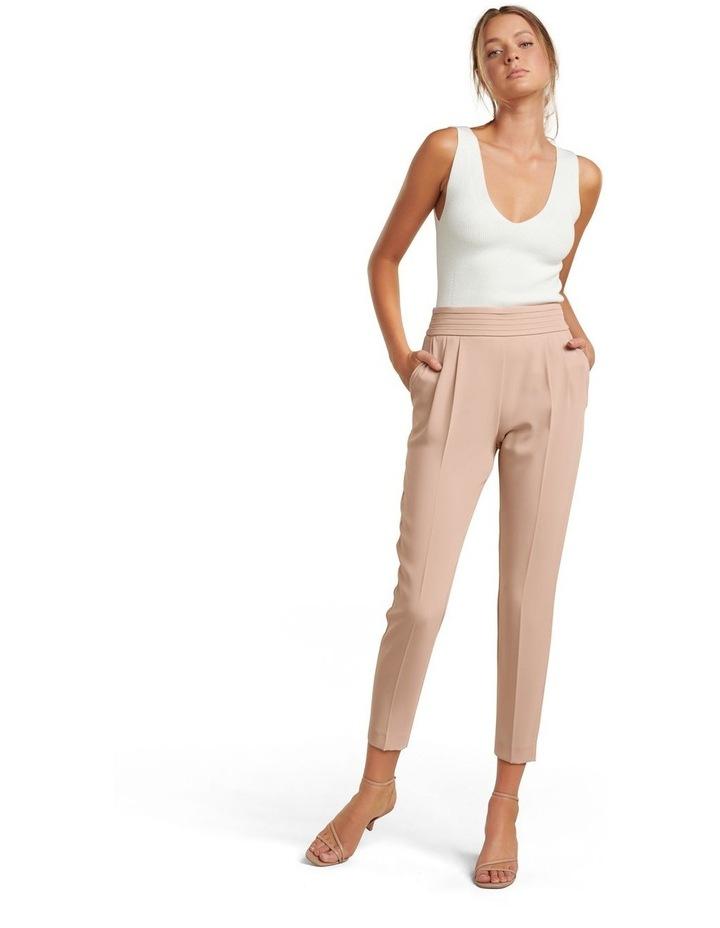 Zoe Petite Pleated Elastic Back Pants image 4