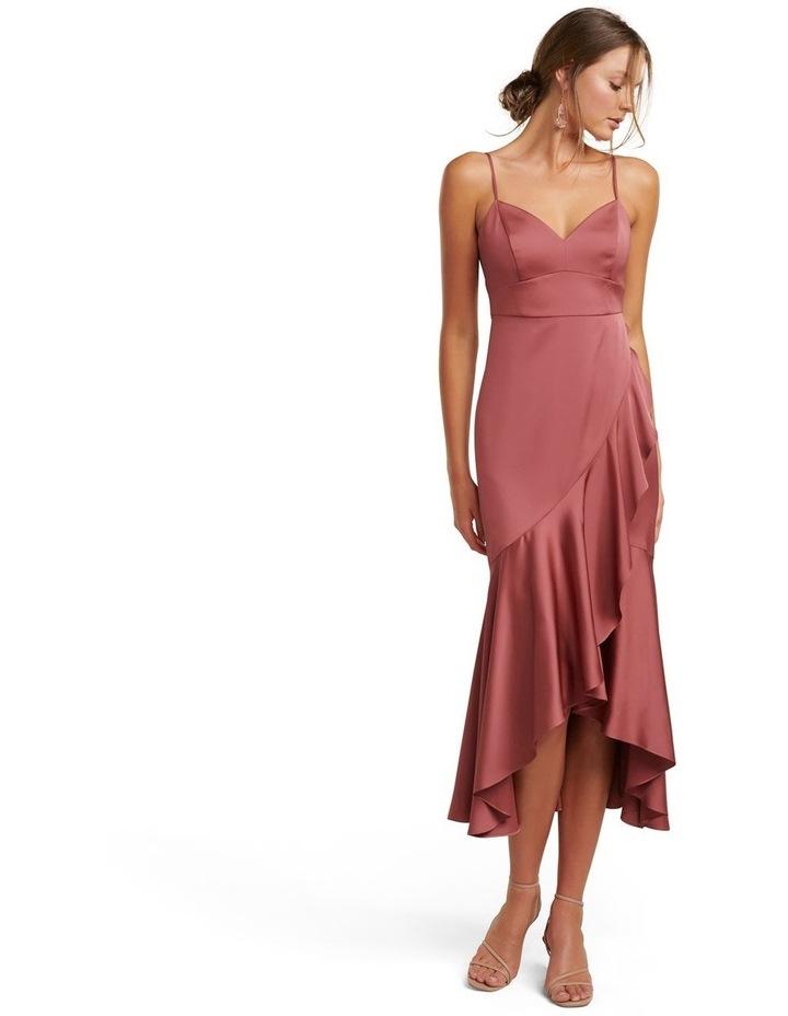 Hazel Petite Wrap Frill Midi Dress image 1