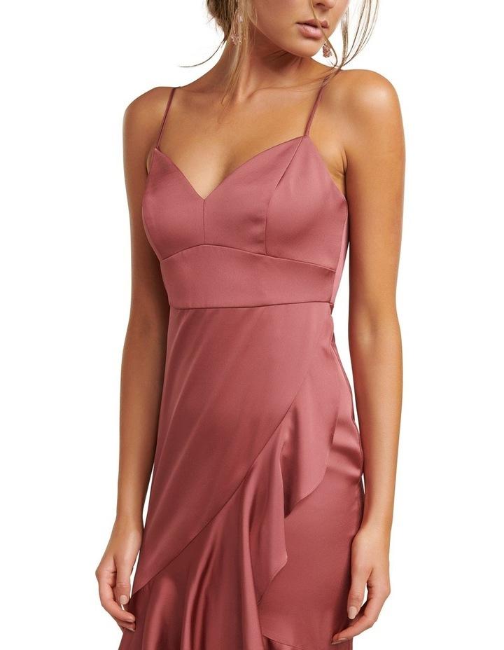 Hazel Petite Wrap Frill Midi Dress image 2