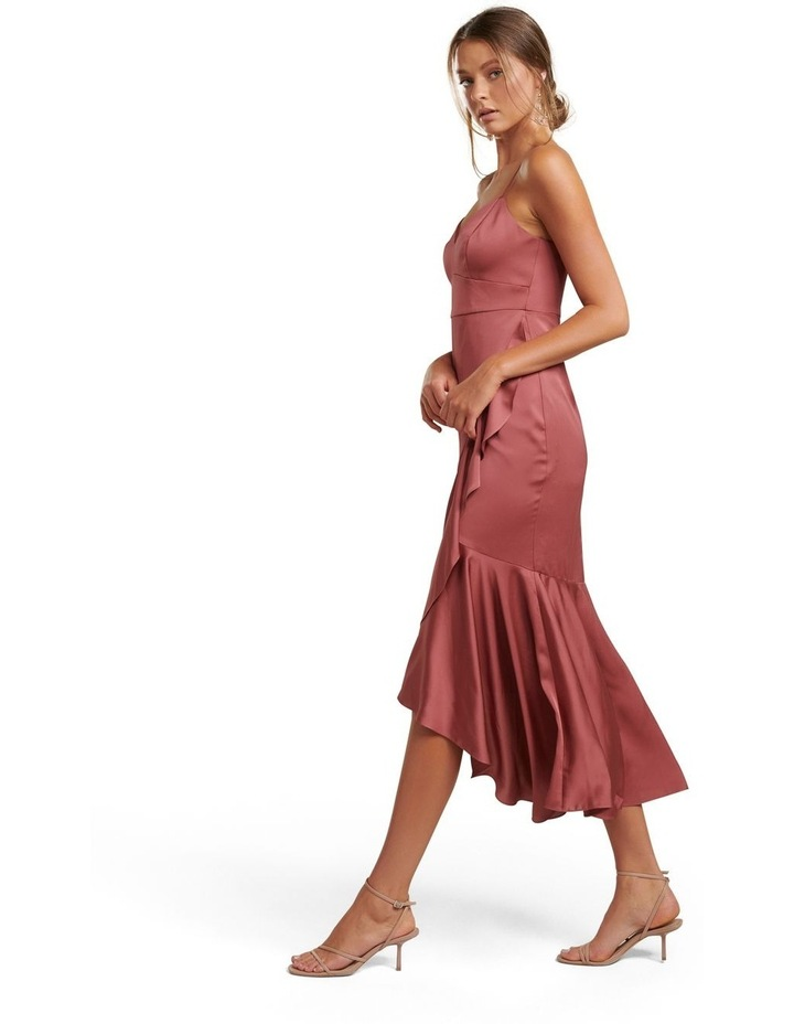 Hazel Petite Wrap Frill Midi Dress image 3