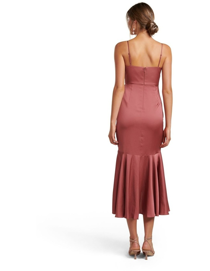 Hazel Petite Wrap Frill Midi Dress image 4