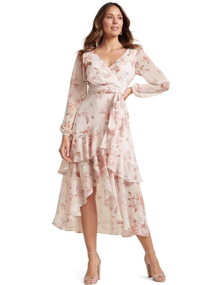 Fleur Long Sleeve Wrap Dress image 1