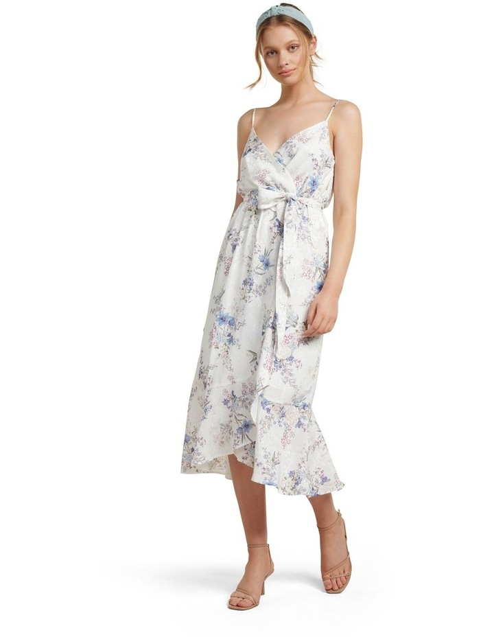 Talia Floral Wrap Midi Dress image 1