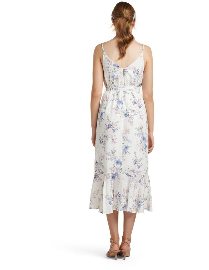 Talia Floral Wrap Midi Dress image 4