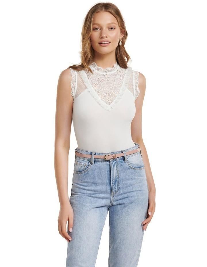 Tallulah Spliced Lace Yoke Bodysuit image 1