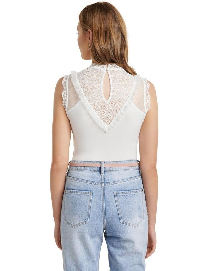 Tallulah Spliced Lace Yoke Bodysuit image 3