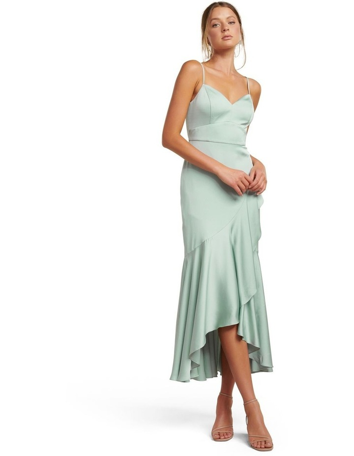 Hazel Wrap Frill Midi Dress image 1
