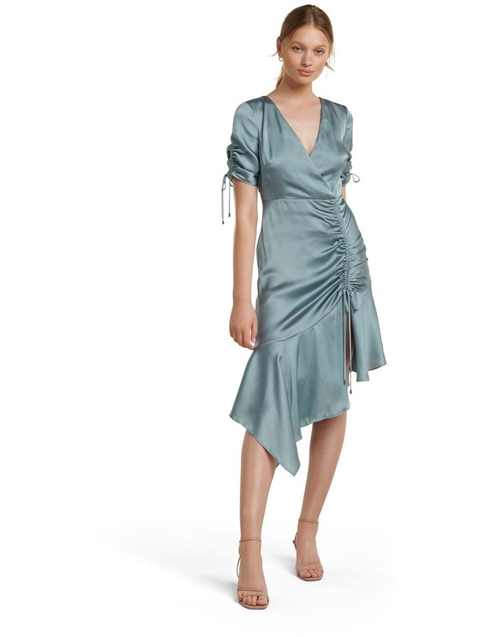 Sally Satin Ruched Dress image 1