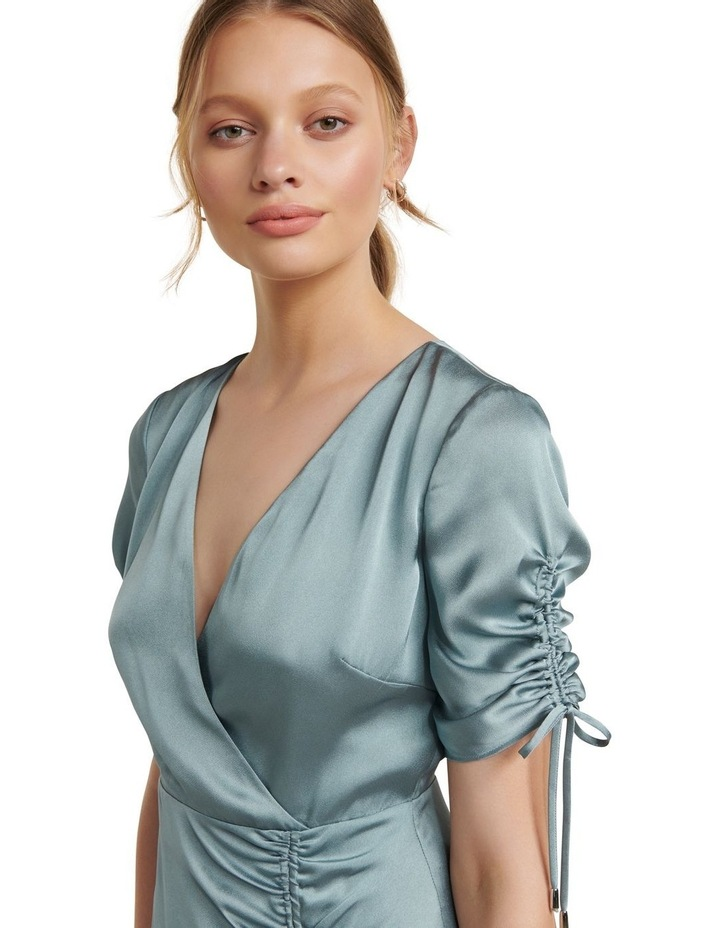 Sally Satin Ruched Dress image 2