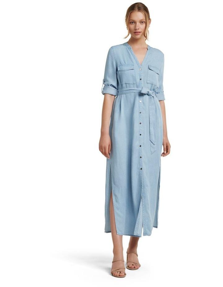 Belle Denim Maxi Shirt Dress image 1