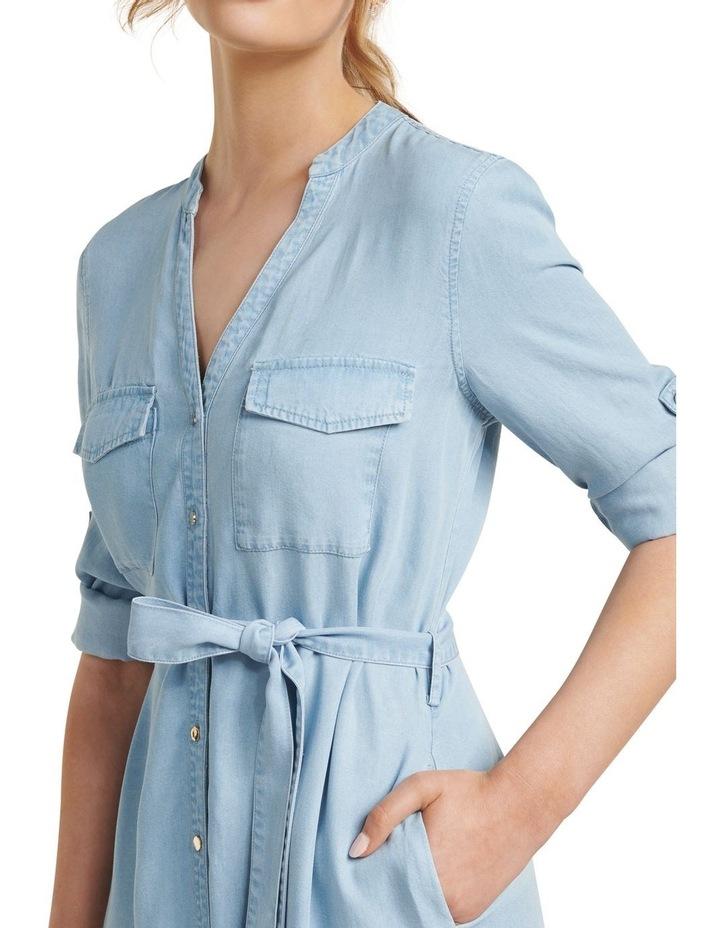Belle Denim Maxi Shirt Dress image 2