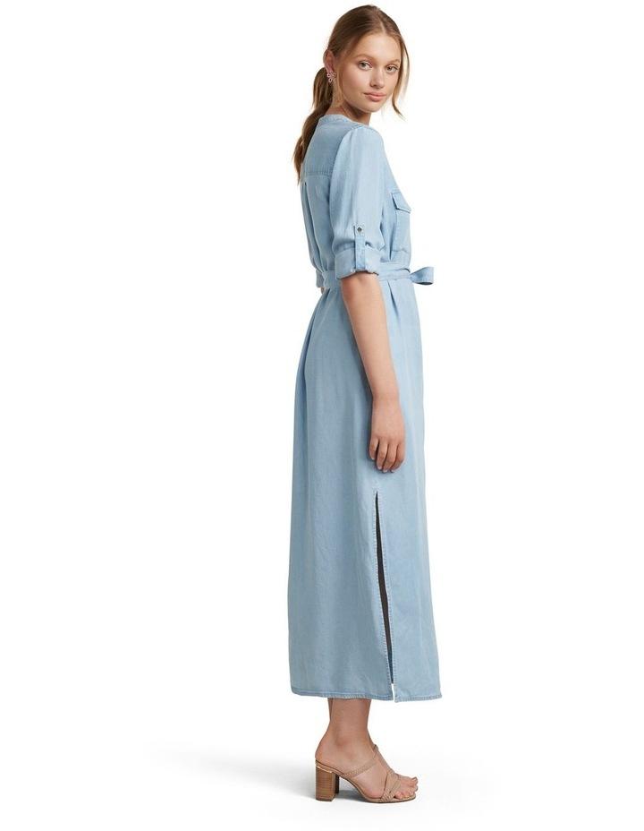 Belle Denim Maxi Shirt Dress image 3