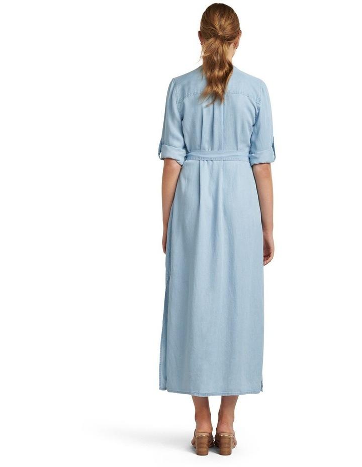 Belle Denim Maxi Shirt Dress image 4