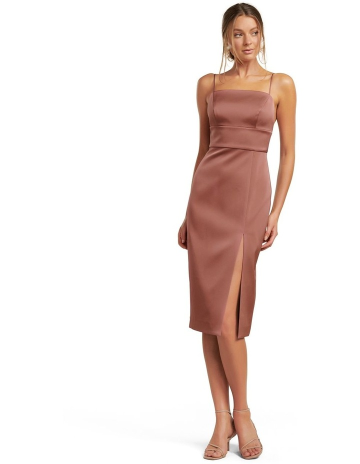 Misty Bonded Satin Midi Dress image 1