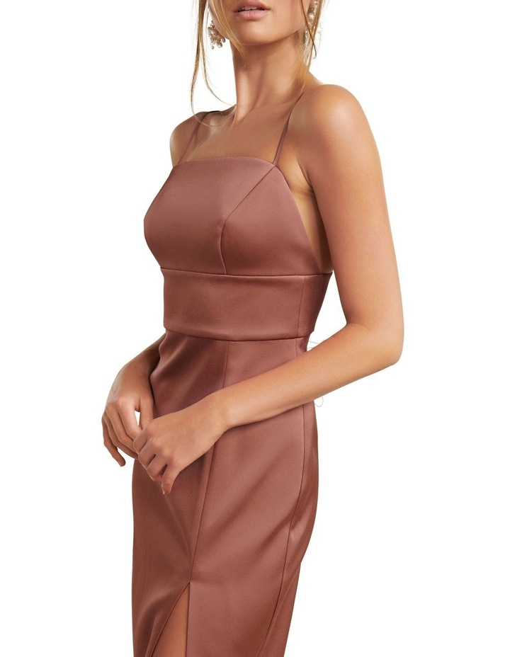 Misty Bonded Satin Midi Dress image 2
