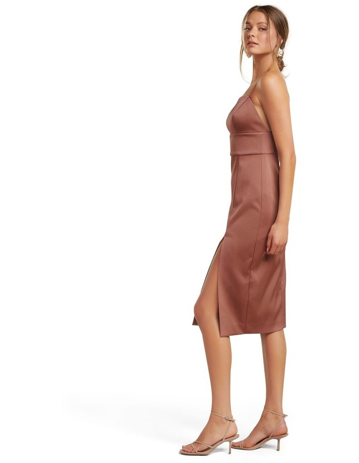 Misty Bonded Satin Midi Dress image 3