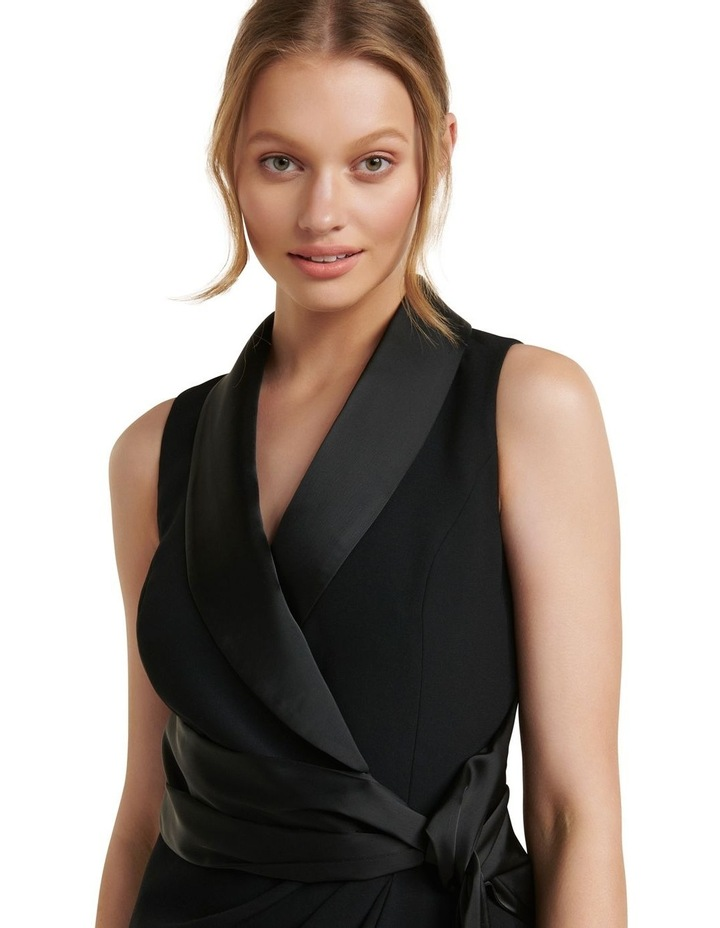 Rowena Tuxedo Satin Midi Dress image 2