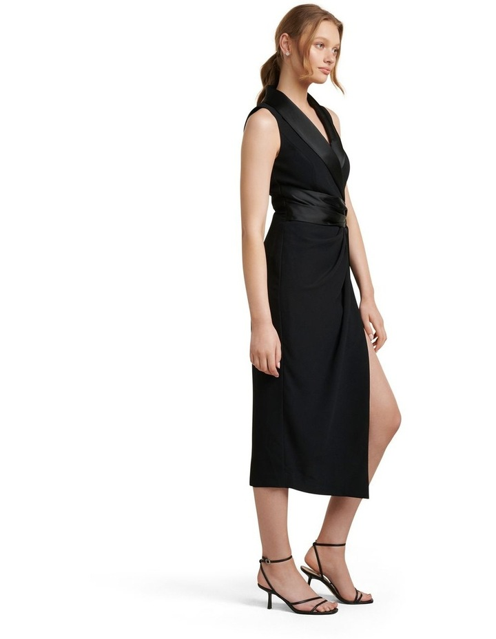 Rowena Tuxedo Satin Midi Dress image 3