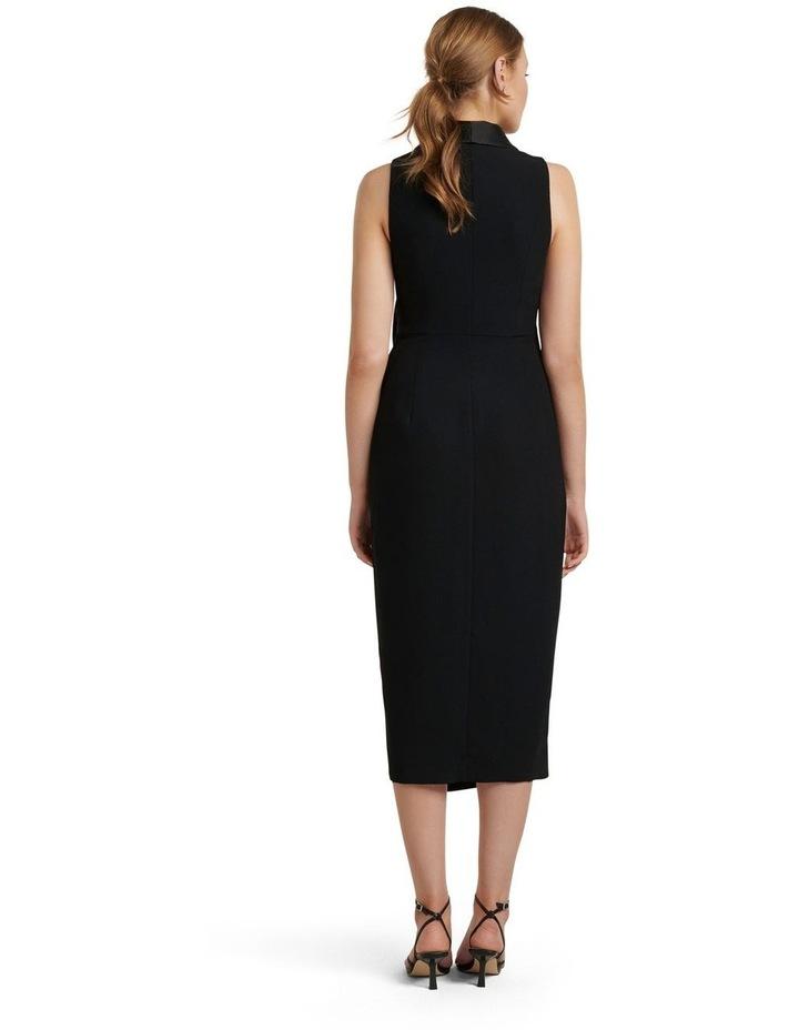 Rowena Tuxedo Satin Midi Dress image 4