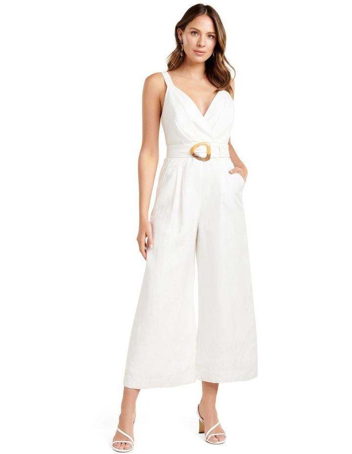 Kira Belted Linen Jumpsuit image 1