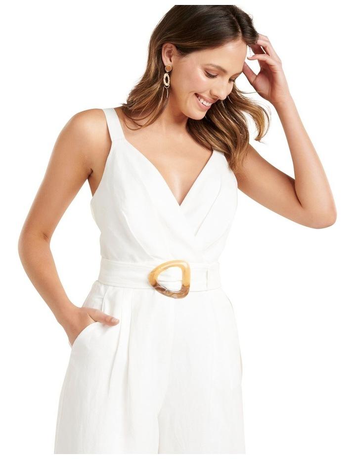 Kira Belted Linen Jumpsuit image 2