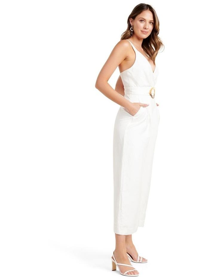 Kira Belted Linen Jumpsuit image 3